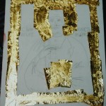Application of gold leaf